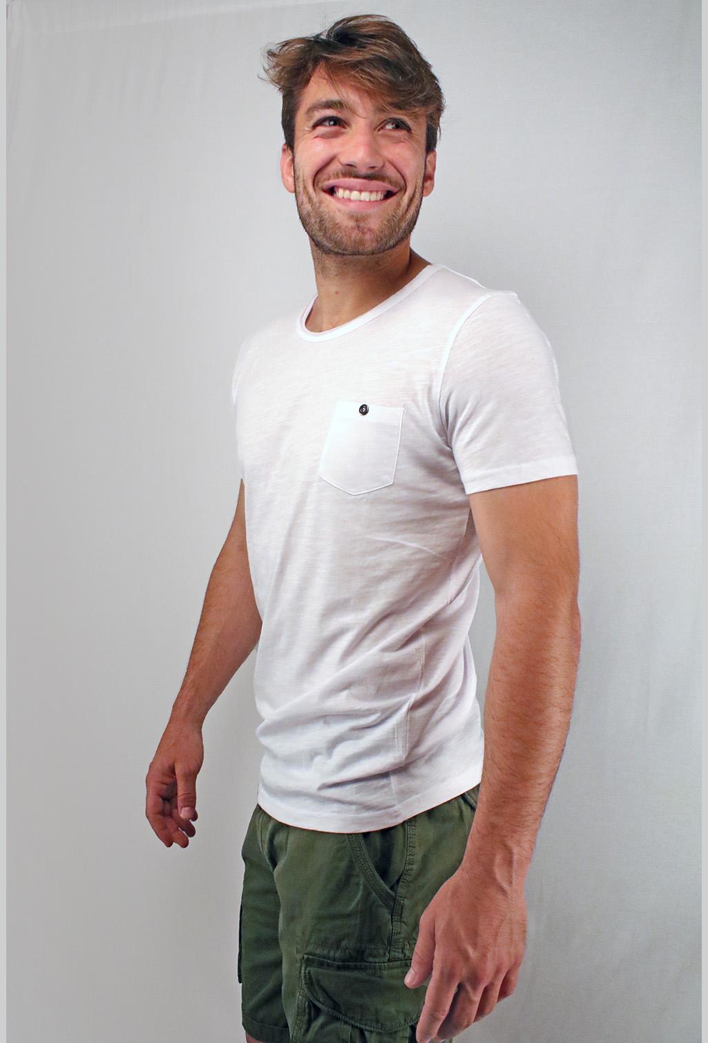 Abbigliamento tempo - libero maglietta bianca-laterale